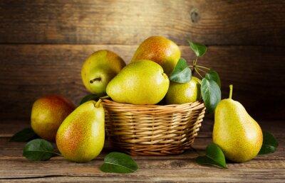 Quadro vida ainda com peras frescas