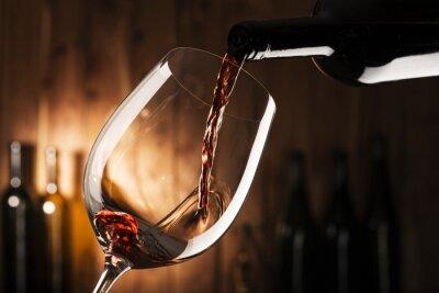 Quadro Vidro com vinho tinto