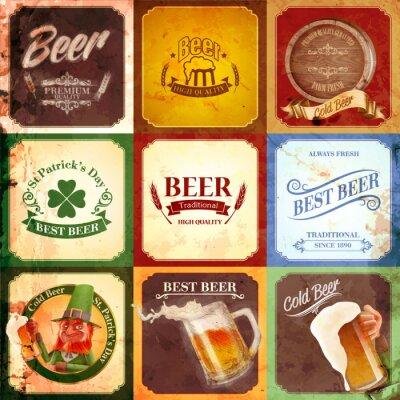 Quadro vindima bandeira cerveja