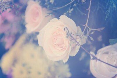 Quadro Vindima, flor, buquet, macio, fundo