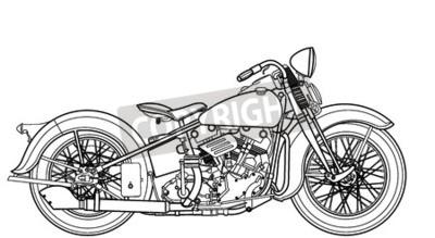Quadro Vintage da motocicleta