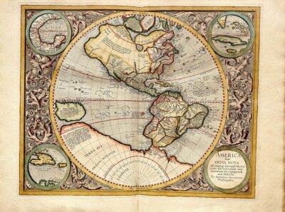 Quadro Vintage  map