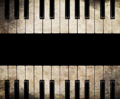 Quadro Vintage Piano isolado