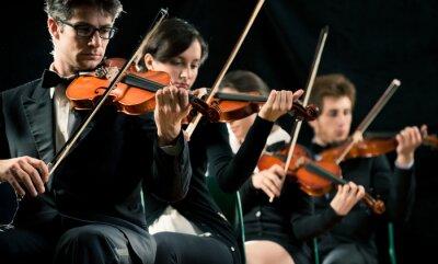 Quadro Violino orquestra desempenho
