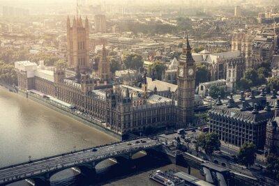 Quadro Vista aérea da cidade de Londres