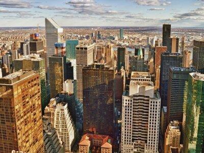 Quadro Vista aérea da cidade de Nova Iorque.