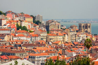 Quadro Vista aérea de Lisboa, Portugal