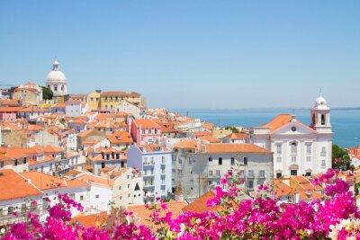 Quadro Vista da Alfama, em Lisboa, Portugal