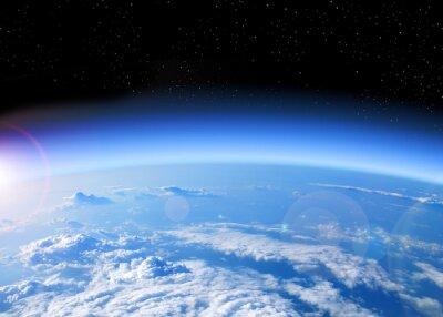 Quadro vista da Terra a partir do espaço