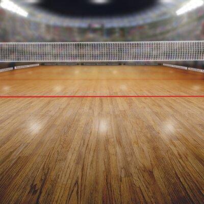 Quadro Voleibol, arena, espectadores, cópia, espaço