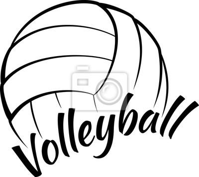 Quadro Voleibol com texto Fun