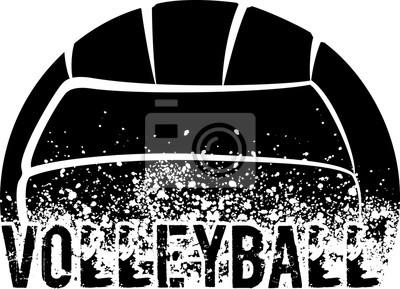 Quadro Voleibol escuro Grunge