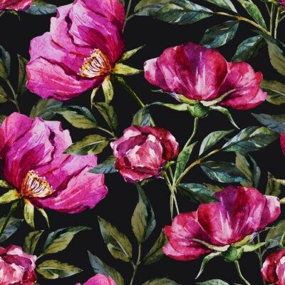 Quadro Watercolor padrão floral