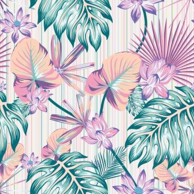 Quadro Winter tropical pattern seamless stripe background
