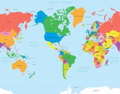 Quadro World map americano