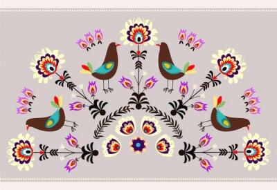 Quadro Wzór ptakami z