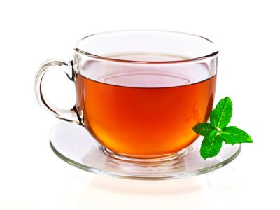 Quadro Xícara de chá com hortelã