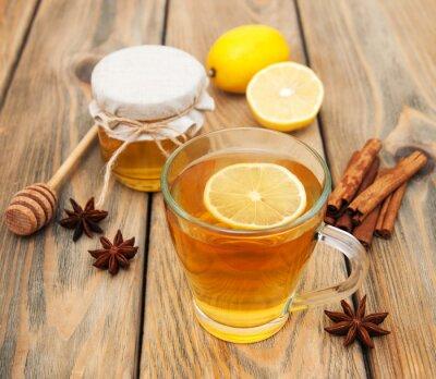 Quadro Xícara de chá com mel