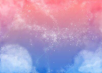 Quadro ふ わ ふ わ ピ ン ク の 空 Fluffy Sky Rosa