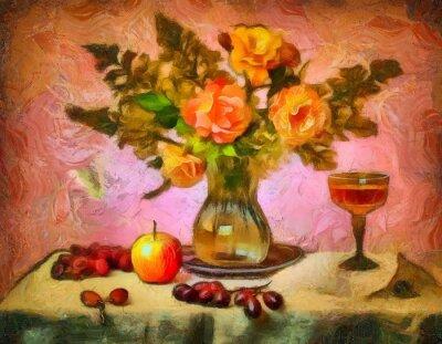 Quadro Натюрморт с розами