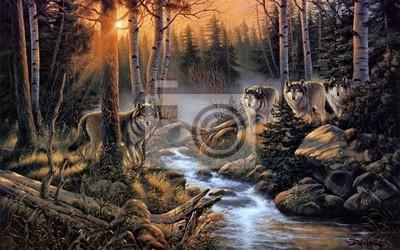 Quadro Стая волков