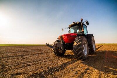 Quadro Agricultor que fertiliza terras aráveis com nitrogênio, fósforo, fertilizante de potássio