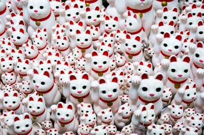 Quadro Goutokuji-templo Gato de Beckoning, tokyo, japão (豪徳寺 の 招き猫)