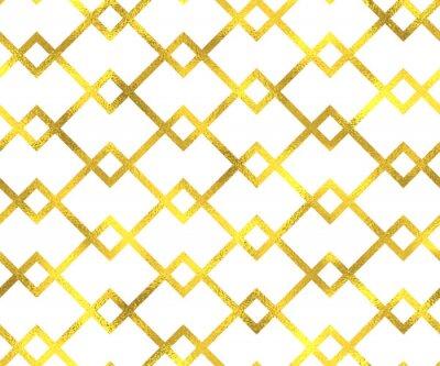 Quadro Ouro, vindima, folha, geomã ©'ricas, seamless, Padrão, fundo