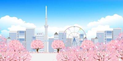 Quadro 桜 東京 春 背景