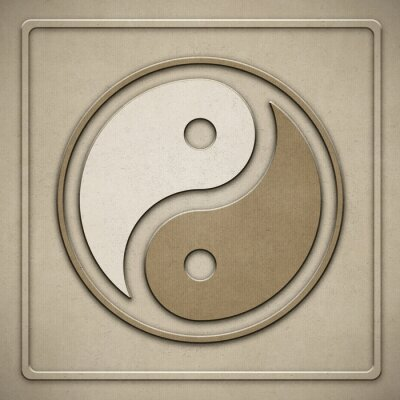 Quadro Yin Yang - paper - estampagem