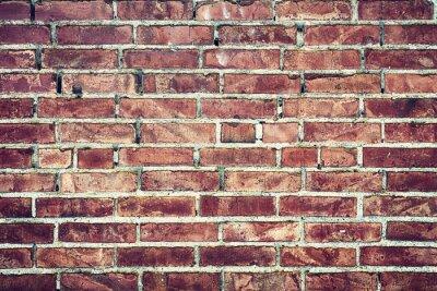 Quadro Zbliżenie na Stary mur z cegieł