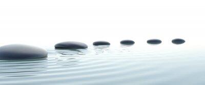 Quadro Zen caminho de pedras em widescreen