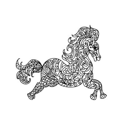 Quadro Zentangle Cavalo