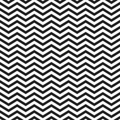Quadro Zigzag, Padrão, pretas, linhas, elegante, Ilustração